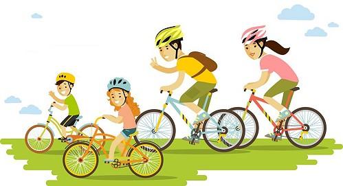 fietsen familie